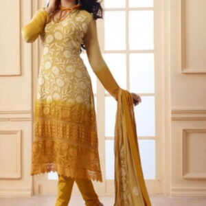 Fashion Ind Party Wear Straight Cut Georgette Suit