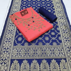 Banarasi Designer Dupatta Ethnic Salwar Suit-MJI27-4