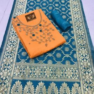 Banarasi Fancy Dupatta Ethnic Salwar Kameez-MJI27-5