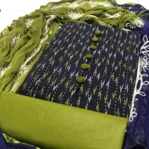 Fashion India Fine Cotton Embroidery Salawar Suits- DESIGNK32-3