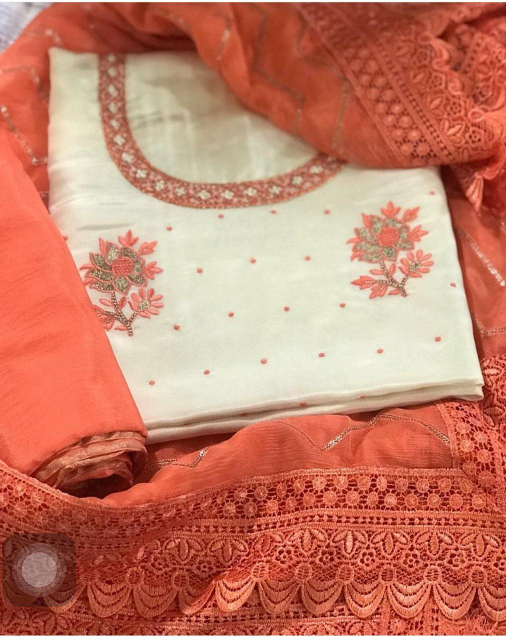 Embroidered Cotton Dress Material Off 54 Www Abrafiltros Org Br