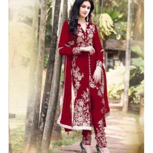 Fashion Ind Red Color Salwar Suit