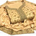 Badami coloured Traditional Semi Modal Gilter Work With Diamond For Ladies Salwar Suit-DESIGNK76-3