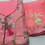 Pink Colored Party Wear Printed Cotton Salwar Suit For Women-HN5-1 1