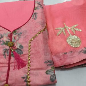 Pink Colored Party Wear Printed Cotton Salwar Suit For Women-HN5-1