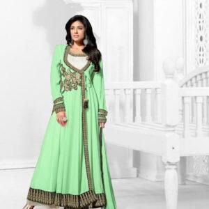 Fashion Ind New Ceremonial Wear Green Salwar Suit