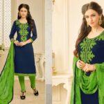 Fashion Ind Navy Blue Color Salwar Suit