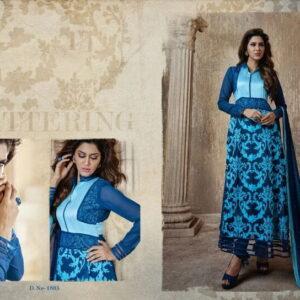 Fashion Ind designer Skyblue Color Georgette Salwar Suit