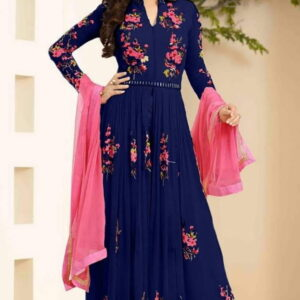Fashion Ind Anarkali Style Georgette Embroidered Suit