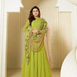 Fashion Ind Parrot Green Salwar Suit