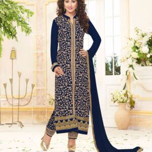 Fashion  Ind Heavy Designer Georgette Salwar Suit With Heavy Embroidery