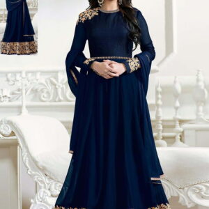 Fashion Ind Georgette Heavy Embroidered Anarkali Suit