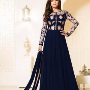 Fashion Ind Party Wear Georgette Embroidered Anarkali Suit