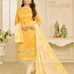 Fashion Ind Designer Yellow Colour Salwar Suit