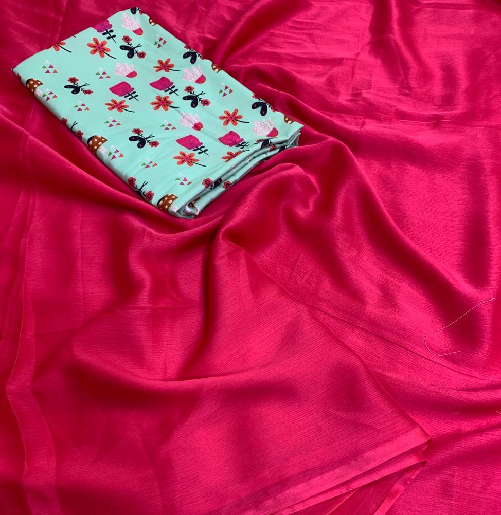 Phenomenal Rani Cotton Silk Plain Party Wear Saree