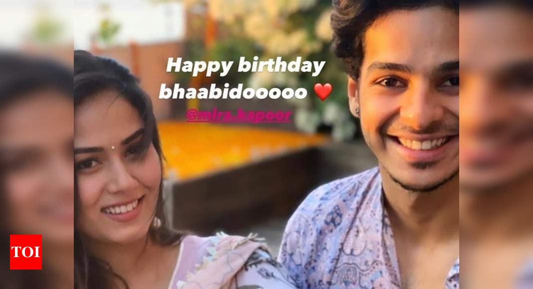 Ishaan Khatter birthday wishes his 'bhaabidoo' Mira Rajput with a particular post; Ses PHOTO